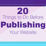 20 Things to Do Before Publishing Your Website