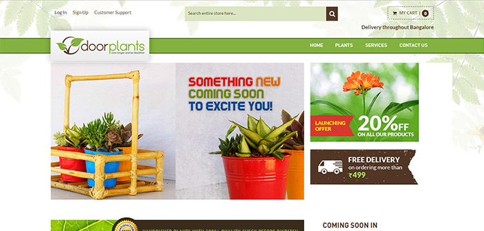 Door Plants Web Design Sample