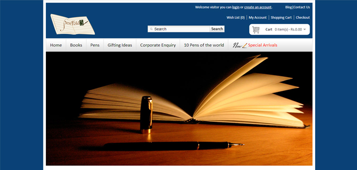 Pen Fold Web Design Sample