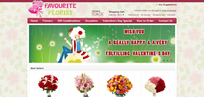 Favorite Florist Web Design Sample