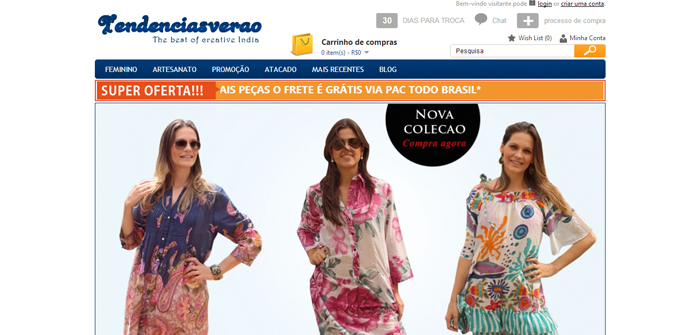 Tendenciasverao Web Design Sample