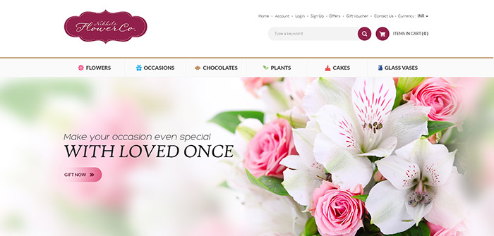 E-commerce - Flower Web Design Sample